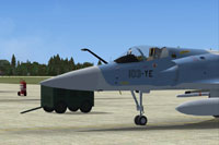 Screenshot of AI MAIW Mirage 2000 on the ground.