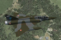 Screenshot of AI MAIW Mirage 2000 in flight.