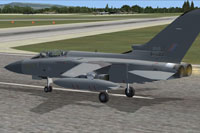 Screenshot of AI MAIW RAF Tornado F3 on runway.