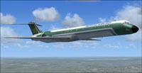 Screenshot of McDonnell Douglas MD-83 in flight.