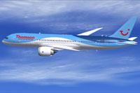 Screenshot of Thomson Boeing 787-8 in flight.