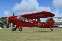 Screenshot of ALAT Super Cub L-18 D-ENLF on the ground.