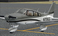Screenshot of AOPA Piper PA-28 Archer on the ground.