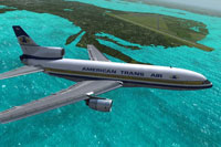 Screenshot of ATA Lockheed L-1011 TriStar in flight.
