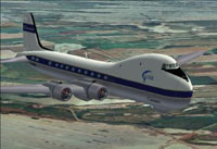 Screenshot of ATL98 Carvair in flight.