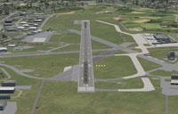 Aerial view of Aberdeen Airport.