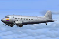 Screenshot of Douglas DC-2 in flight.