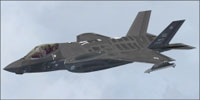 Screenshot of Lockheed Martin F-35 Lightning II in flight.