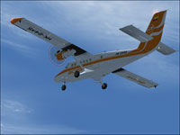 Screenshot of Aces Colombia DeHavilland Twin Otter in flight.