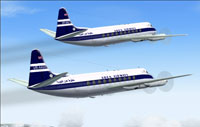 Screenshot of two Aden Airways Vickers Viscount 700 in the air.