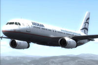 Screenshot of Aegean Airbus A320 IAE in flight.