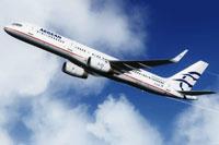 Screenshot of Aegean Airlines Boeing 757-200 in flight.
