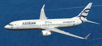 Screenshot of Aegean Boeing 737-800 in flight.