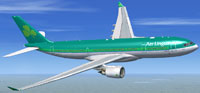 Screenshot of Aer Lingus Airbus A330-200 in flight.