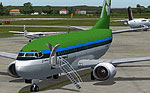Screenshot of Aer Lingus Boeing 737-300 on the ground.