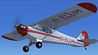Screenshot of Aero Club Coburg Piper J-3 Cub in flight.