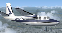 Screenshot of Aero Commander 560 in flight.