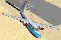 Screenshot of Aero Commander U-9C in flight.