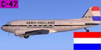 Screenshot of Aero Holland Douglas C-47 in flight.