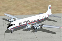 Screenshot of Aero Venezuela Douglas DC-6B on the ground.