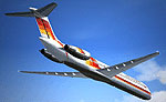 Screenshot of AeroCalifornia MD-83 in flight.