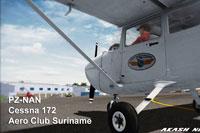 Screenshot of AeroClub Suriname Cessna 172 on the ground.