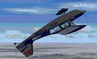 Screenshot of a plane performing a loop.