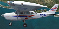 Screenshot of Aerobell Air Charter Cessna CT206H in flight.