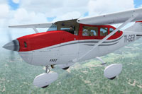 Screenshot of Aerocaribe Air Taxi Cessna 206 TI-GER in flight.