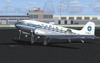 Screenshot of Aeroclube do RGS Douglas C-47/DC-3 on the ground.