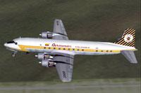 Screenshot of Aerocondor Colombia DC-6B in flight.