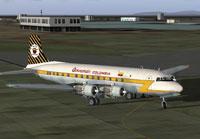 Screenshot of Aerocondor Colombia Douglas DC-6 taxiing to runway.