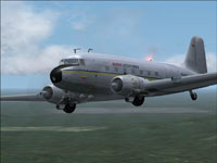 Screenshot of Aeroejecutivos Douglas DC-3 in flight.