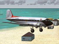 Screenshot of Aeroejecutivos Douglas DC-3/C-47 in flight.