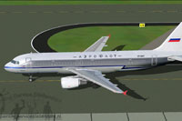 Screenshot of Aeroflot Airbus A320-200 taxiing to runway.