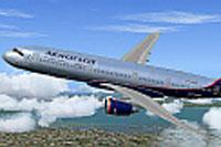 Screenshot of Aeroflot Airbus A350 in flight.