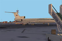 Screenshot of Aeroflot Tupolev Tu-154B2 on the ground.