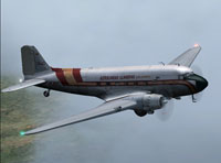 Screenshot of Aerolineas Llaneras Colombia Douglas DC-3 in flight.