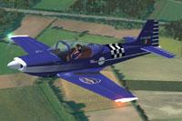 Screenshot of Aeromere F8L Falco III in flight.