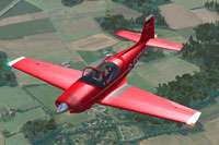 Screenshot of Aeromere F8L Falco Laverda Series IV in flight.