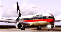 Screenshot of Aeromexico Boeing 767-300ER on the ground.