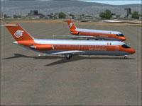 Screenshot of Aeromexico Douglas DC-9-10 on the ground.