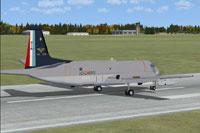 Screenshot of Aeronavale Dassault Atlantic 100 Ans on runway.