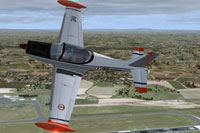 Screenshot of Aeronavale Siai Marchetti SF 260 in flight.