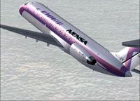 Screenshot of Aeropostal/Avensa Douglas DC-9-30 in the air.