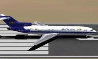 Screenshot of Aeropostal Boeing 727-200 on runway.