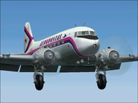 Screenshot of Aeropostal Douglas DC-3 in flight.