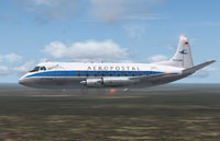 Screenshot of Aeropostal Vickers Viscount 745 in flight.