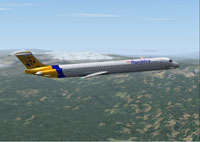 Screenshot of Aerorepublica MD-81 in flight.