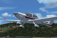 Screenshot of DA40 Diamond Star taking off.